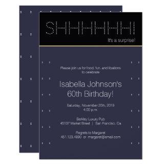 Cartão 60th Bolinhas modernas da festa de aniversário |