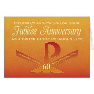 Cartão 60th Cruz do Pax da freira do aniversário do