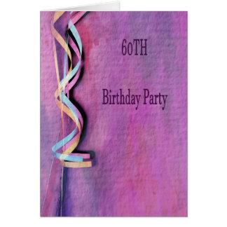 Cartão 60th festa de aniversário