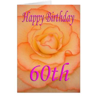 Cartão 60th flor feliz do aniversário