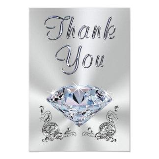 Cartão 60th obrigado bonito do aniversário de casamento