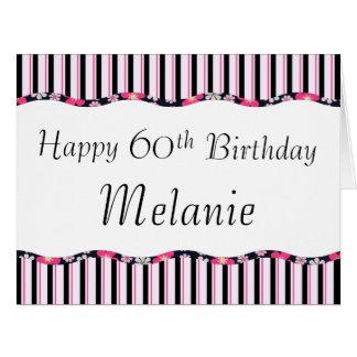 Cartão 60th ou alguma idade Aniversário-GRANDE