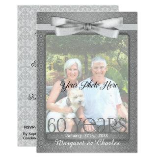 Cartão 60th partido NOVO da foto do aniversário de