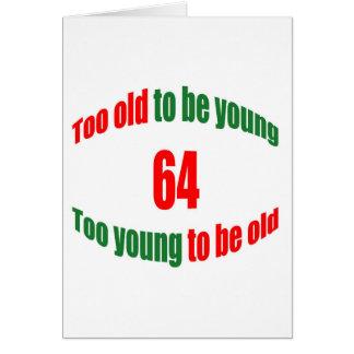 Cartão 64 demasiado velho