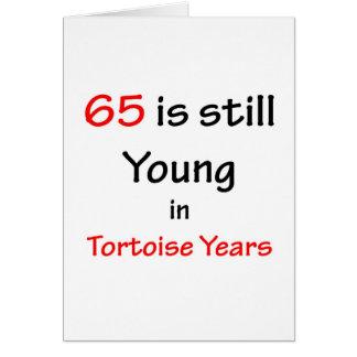 Cartão 65 anos da tartaruga