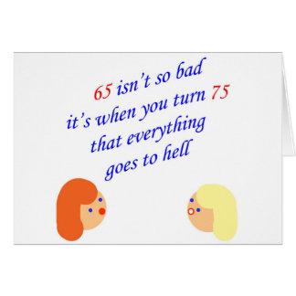 Cartão 65 não são tão maus