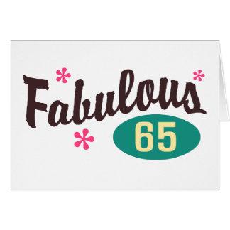 Cartão 65th Aniversário