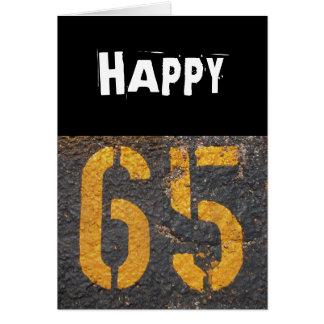 Cartão 65th Aniversário-Cartão