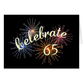 Cartão 65th Celebração do aniversário