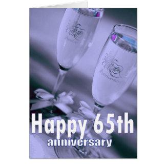 Cartão 65th celebração do champanhe do aniversário de