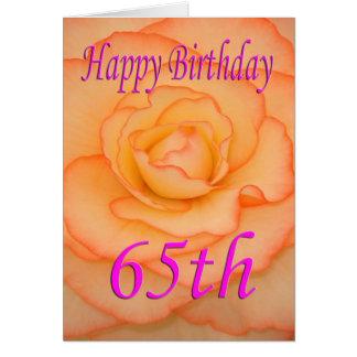 Cartão 65th flor feliz do aniversário