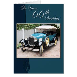 Cartão 66th Aniversário