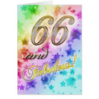 Cartão 66th aniversário para alguém fabuloso