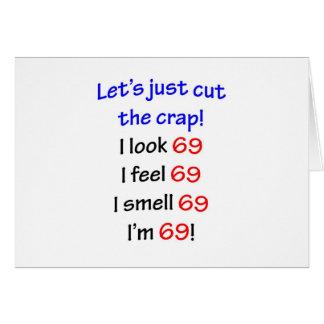 Cartão 69 deixe-nos cortar o excremento