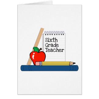 Cartão 6o Professor da categoria (caderno)