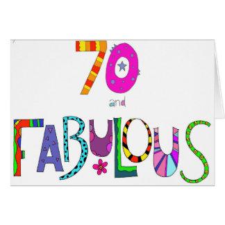 Cartão 70 e aniversário fabuloso do 70