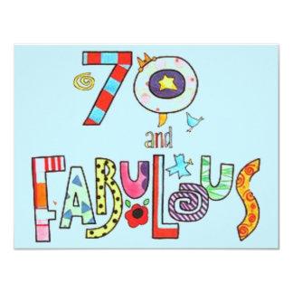 Cartão 70 e aniversário feliz fabuloso do 70