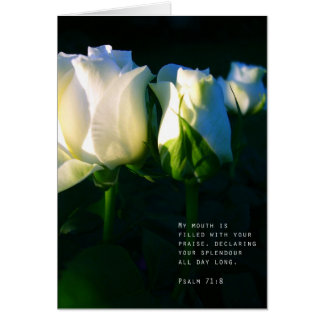 Cartão 71:8 do salmo