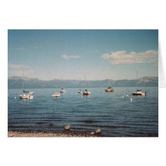 Cartão 73. Barcos na âncora, Lake Tahoe, CA