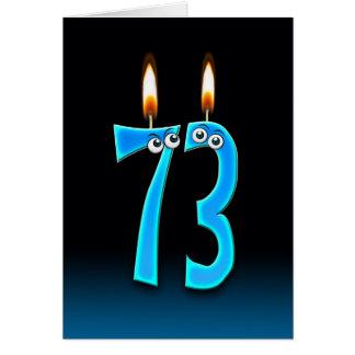Cartão 73rd Velas do aniversário