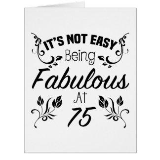 Cartão 75th aniversário fabuloso