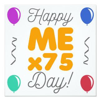 Cartão 75th aniversário feliz