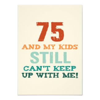 Cartão 75th Aniversário para pais