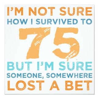 Cartão 75th Legenda do aniversário