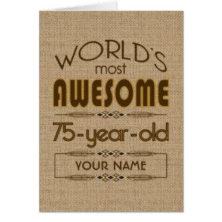 Cartão 75th Mundo da celebração do aniversário melhor