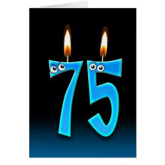 Cartão 75th Velas do aniversário