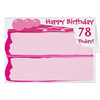 Cartão 78th aniversário feliz