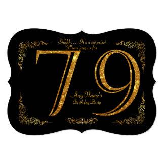 Cartão 79.o, Gatsby da festa de aniversário 79.o, grande,