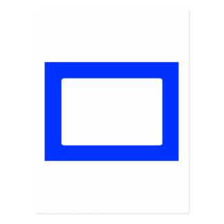 cartão 7X5 com o azul interno redondo de Conors Cartões Postais