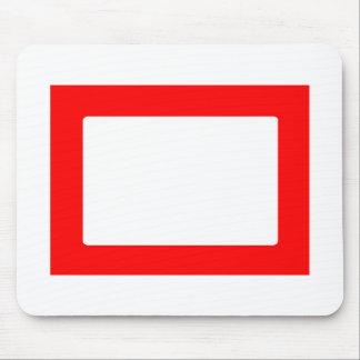 cartão 7X5 com vermelho interno redondo de Conors  Mousepads