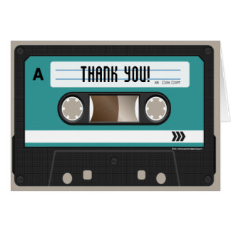 Cartão 80s gaveta retro Mixtape personalizado