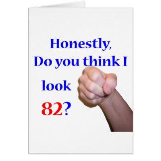 Cartão 82 eu olho 82?