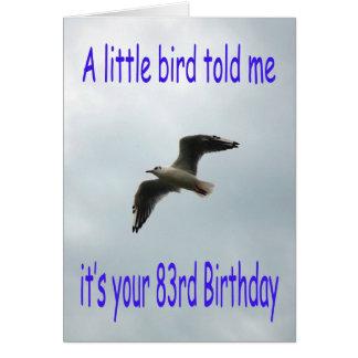 Cartão 83rd pássaro feliz da gaivota do vôo do