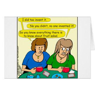 Cartão 873 quem inventou desenhos animados da salada de