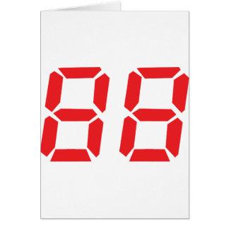 Cartão 88 oitenta e oito números digitais do despertador