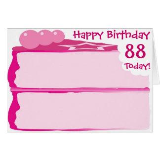 Cartão 88th aniversário feliz