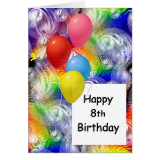 Cartão 8o aniversário feliz