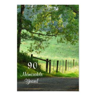Cartão 90 anos memoráveis/Aniversário/homem