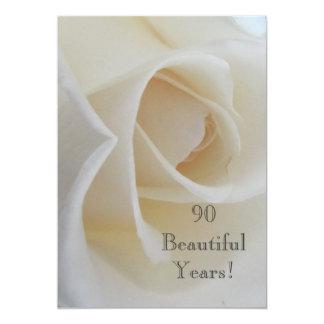 Cartão 90 celebrações do aniversário de