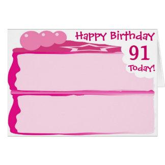 Cartão 91st aniversário feliz