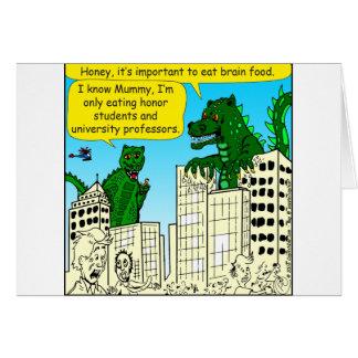 Cartão 920 monstro comem estudantes da honra para a