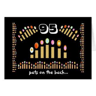 Cartão 95 pancadinhas na parte traseira - 95th