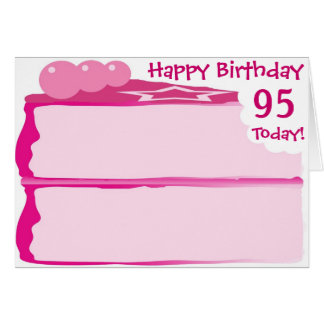 Cartão 95th aniversário feliz