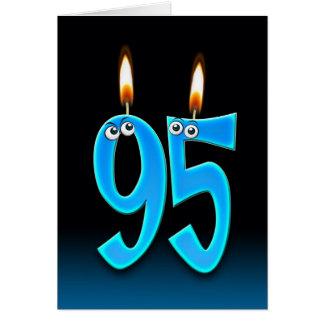 Cartão 95th Velas do aniversário