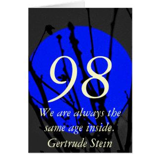 Cartão 98th Aniversário