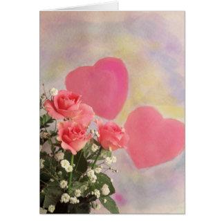 Cartão 99 corações e flores do milagre